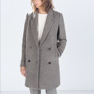 Zara - trf Structured Coat in Gray